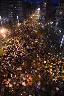 Imagen aérea de la manifestación de hoy